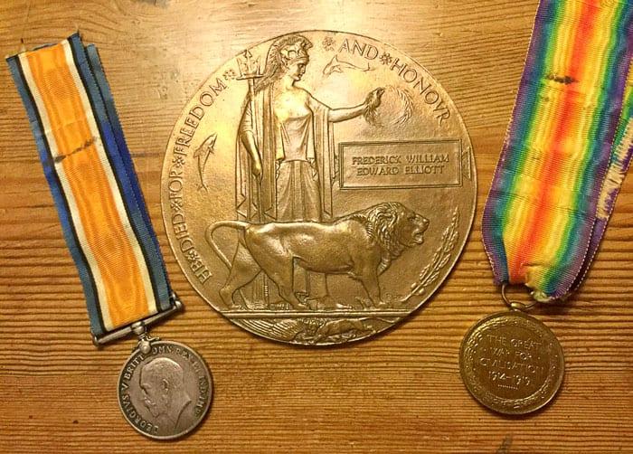 William Elliot's Medals   Kingsbury Time Travellers