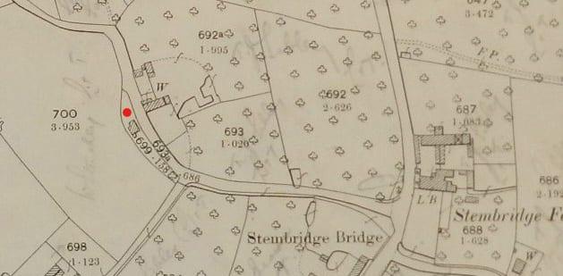 Old map of Cottage on Little lane | Parish of Kingsbury Episcopi