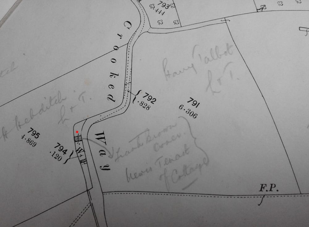 Old map of Crocked way | Parish of Kingsbury Episcopi