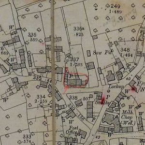 Old map of Ernest Reed   Parish of Kingsbury Episcopi
