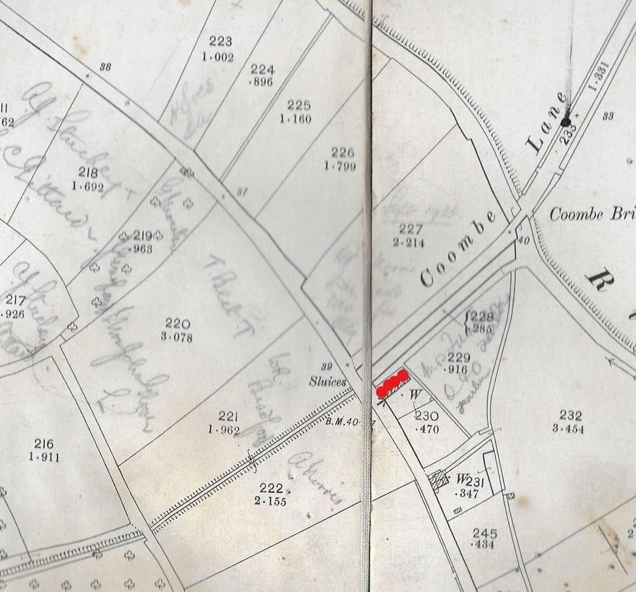 Old map of Lavers Row   Parish of Kingsbury Episcopi